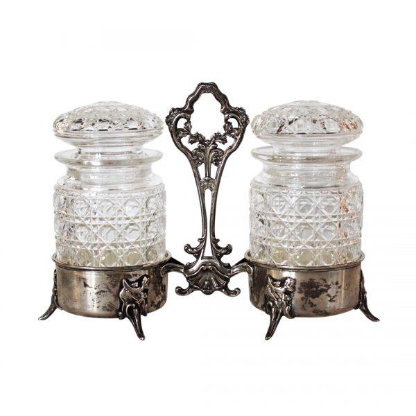 Antikvarinis sidabrinis rokoko stiliaus arbatos indų rinkinys19 a. pab.