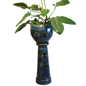 Ceramic Plant Pot & Pedestal