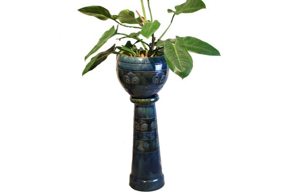 Ceramic Plant Pot & Pedestal