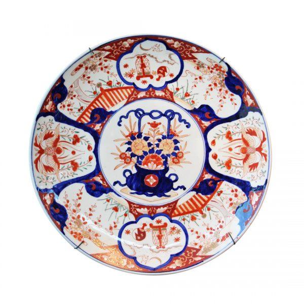 Kiniškos sieninės porcelianinės lėkštės 19 a. pab.