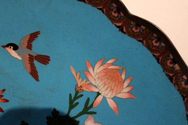 Kiniška cloisonne stalo lėkštė