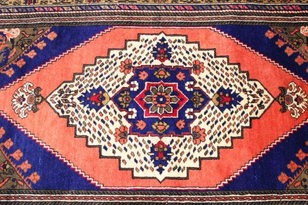Rankų darbo Kazak vilnonis kilimas 200 x 112
