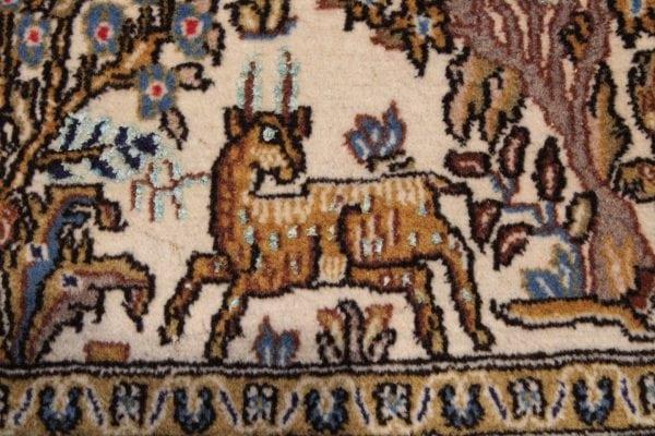 Persiškas rankų darbo Qum kilimas 280 x 140