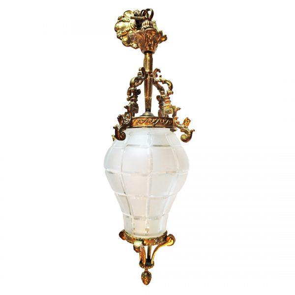 Napoleon III stiliaus žalvarinis šviestuvas 20 a. vid.