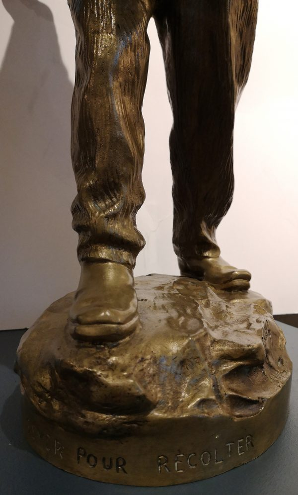 "G. E. Saulo bronzinė skulptūra ""Sėjėjas"" 20 a. pr."