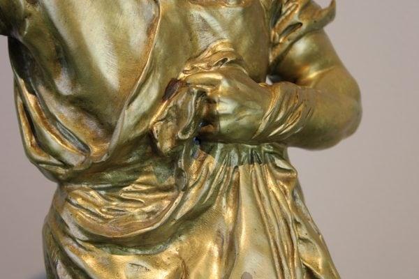 """G. E. Saulo bronzinė patinuota skulptūra """"Sėjėjas"""""""