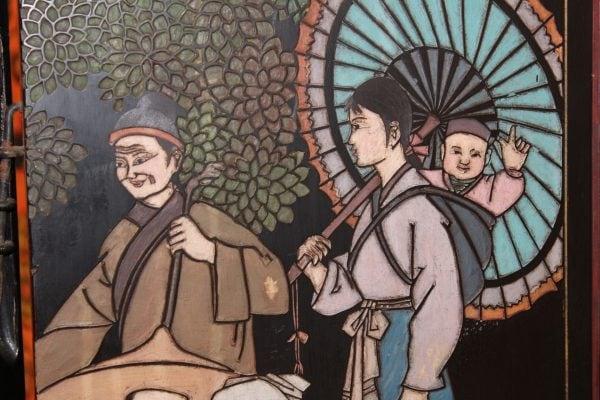 Kiniška šešių dalių širma 20 a. vid.