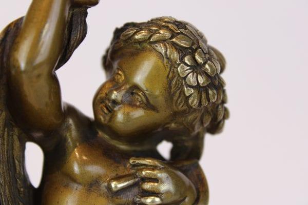 Antikvarinės Liudviko XVI-jo stiliaus bronzinės žvakidės