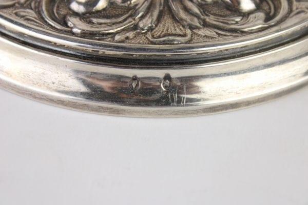 Antikvarinės ispaniškos sidabrinės žvakidės 19 a. pab.