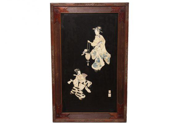 Japoniškas Shibayama paveikslas 19 a. pab.