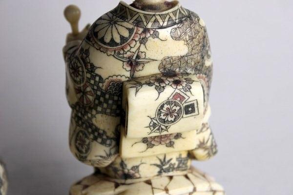 Japoniškos kaulo skulptūrėlės 20 a. pr.