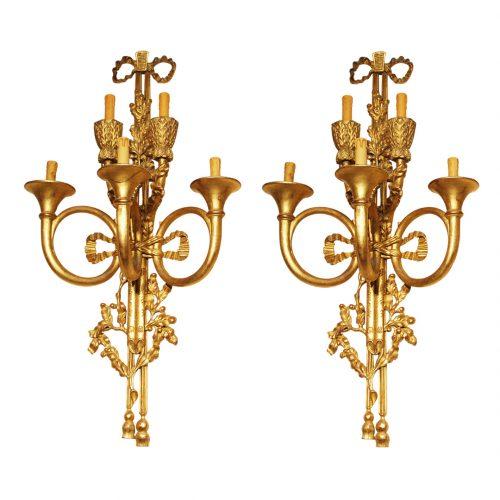 Liudviko XVI-ojo stiliaus sieniniai šviestuvai 20 a. pab.
