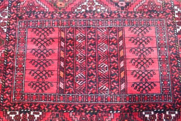 Rankų darbo Afghan Khal Mohammadi vilnonis kilimas 207 x 178 cm.