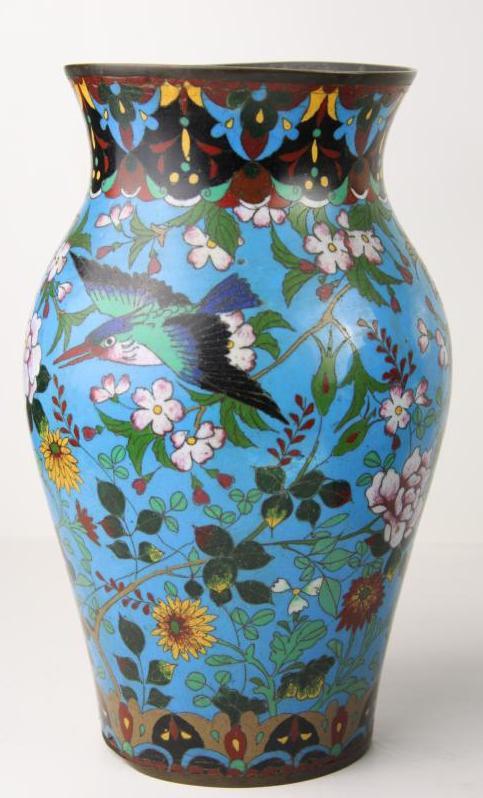 Kiniškų Cloisonne vazų rinkinys 19 a. pab.