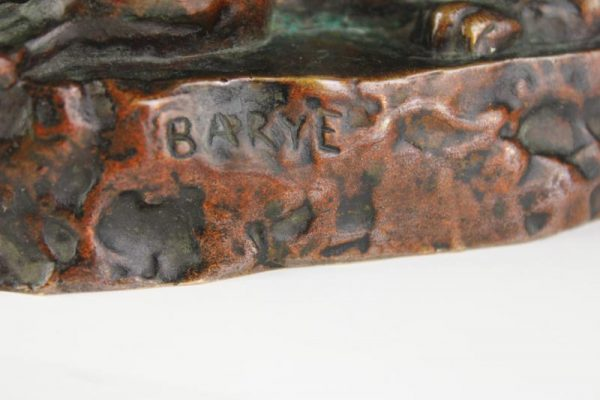 """Antikvarinė A. Barye skulptūra """"Liūtė"""""""