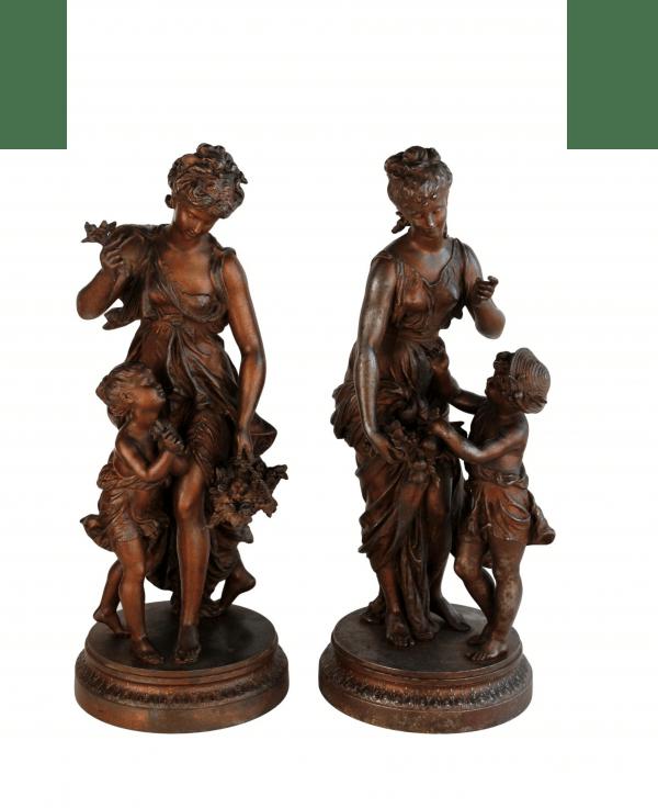 """H. Moreau skulptūros """"Metų laikai"""" 19 a. pab."""