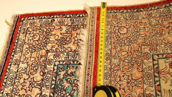 Rankų darbo šilkinis kilimas Hereke 92 x 61