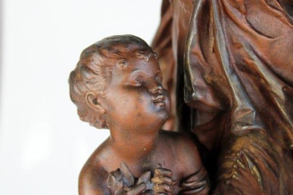 Antikvarinių alavinių H. Moreau skulptūrų pora