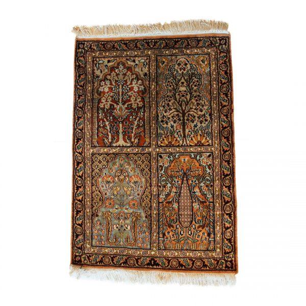 Rankų darbo Kashmir šilkinis kilimas 88 x 60