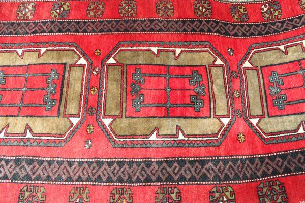 Kazak rankų darbo vilnonis kilimas 418 X 121cm.