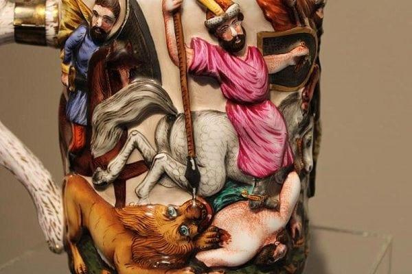 Capo Di Monte porcelianinis bokalas 19 a. pab.