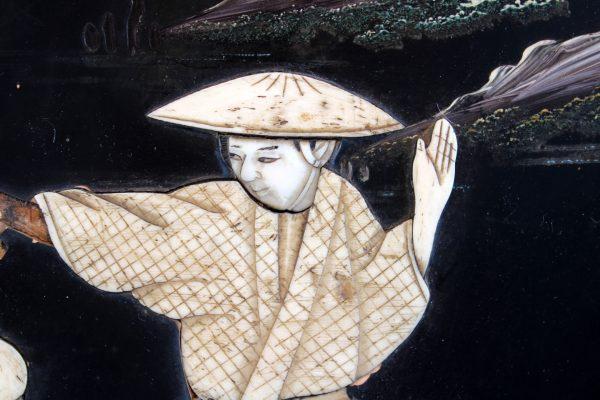 Japoniški Shibayama stiliaus paveikslai