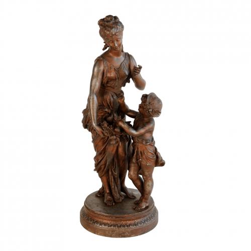 "H. Moreau skulptūra ""Ruduo"" 19 a. pab."