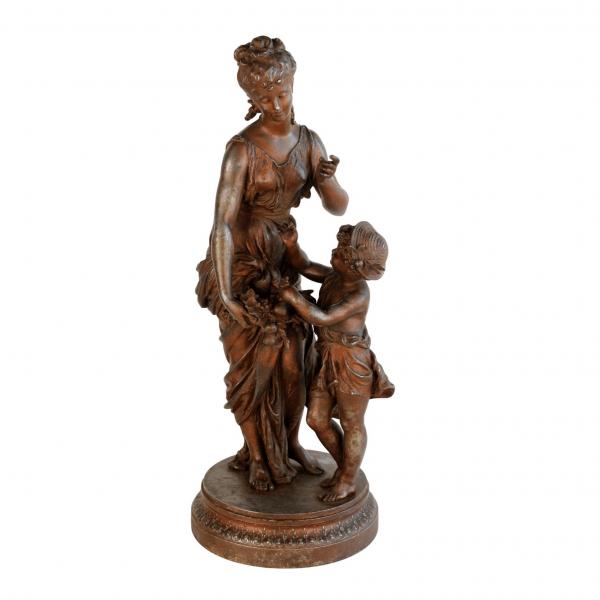 """Antikvarinė H. Moreau skulptūra """"Metų laikai - Ruduo"""""""