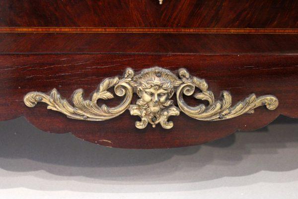 Raudonmedžio baroque stiliaus komoda