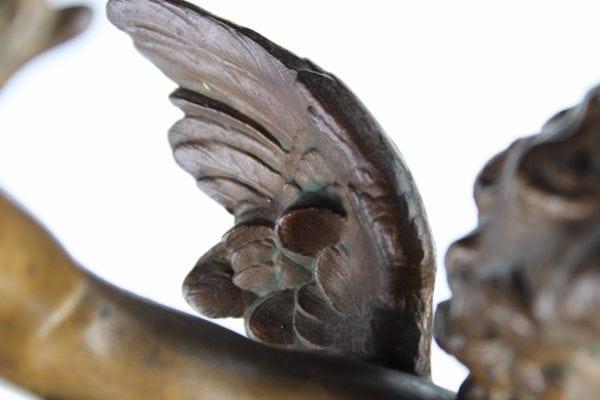 """Antikvarinė skulptūra pagal A. Moreau """"Meilė ir draugystė"""""""