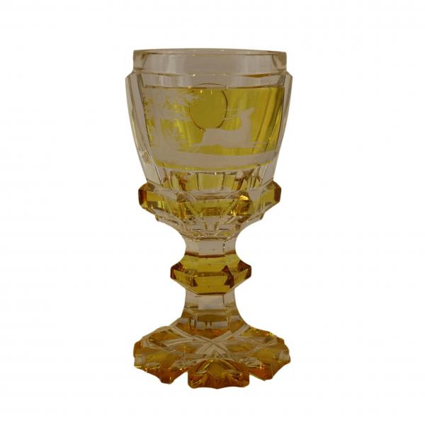 """Spalvota """"Bohemia"""" krištolinė taurė"""
