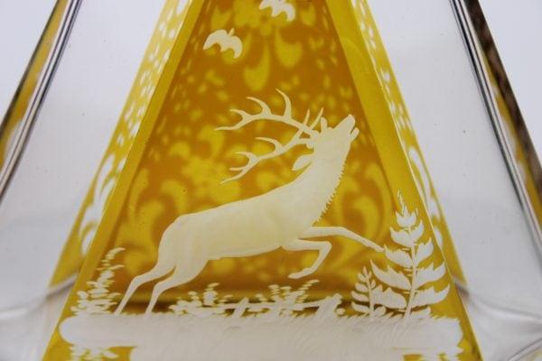 Krištolinis grafinas su taurelėmis