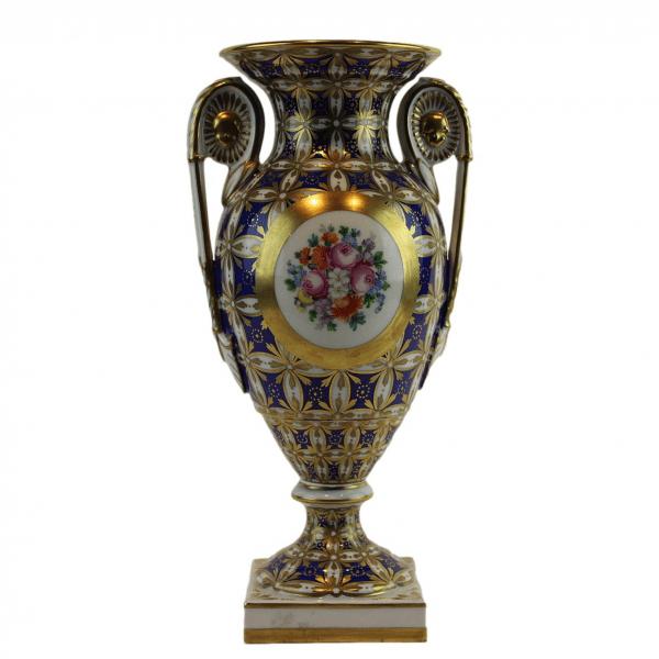 """Dresdner Porzellan"" auksuota porceliano vaza"