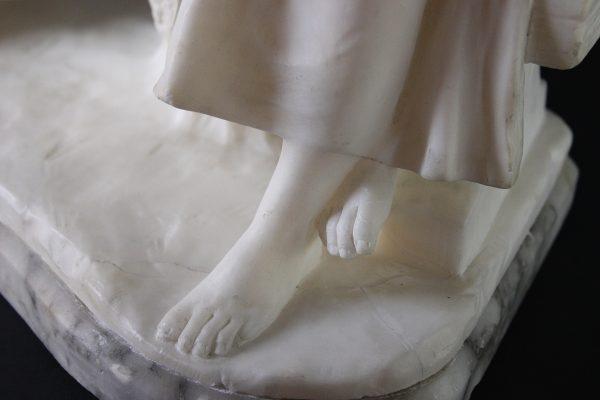 """Antikvarinė alebastro skulptūra """"Vaikai"""""""