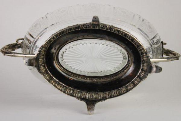Napoleon III stiliaus sidabrinė vaza