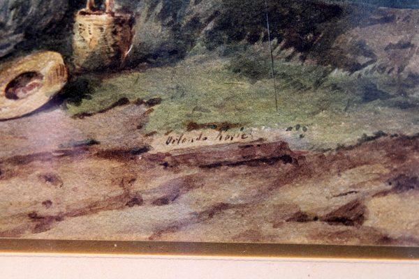"""Antikvarinis paveikslas akvarele """"Peizažas"""""""