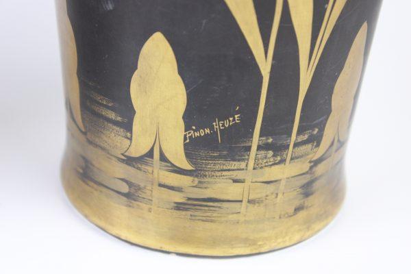 P. Heuze Art Deco stiliaus porcelianinės vazos