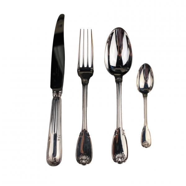 Christofle&Cardeilhac sidabrinis pietų įrankių rinkinys
