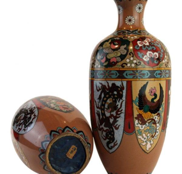 Kiniškos antikvarinės Cloisonne vazos