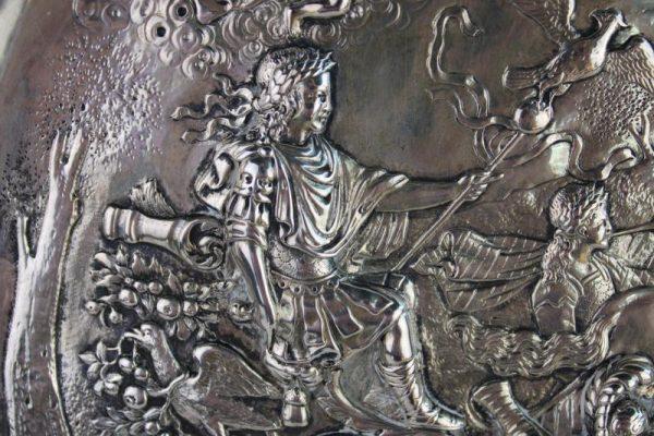 Antikvarinė sidabrinė lėkštė