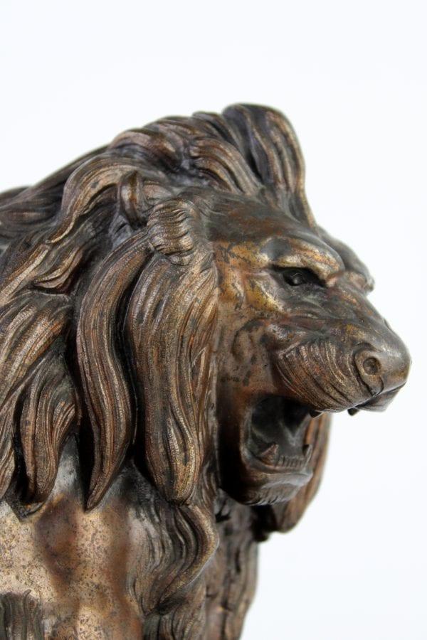 """Antikvarinė bronzos skulptūra """"Liūtas"""""""