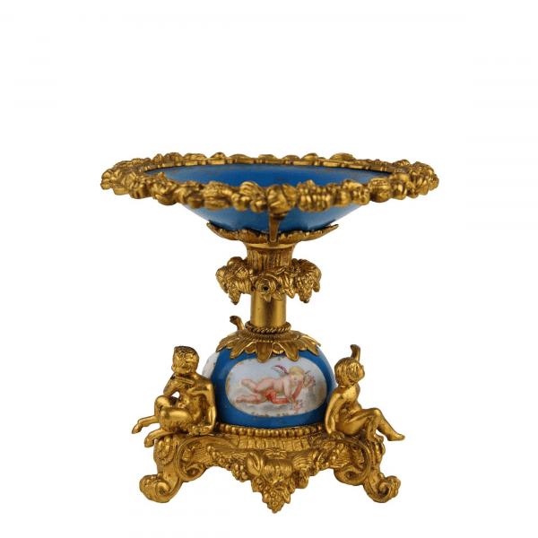 Paauksuota bronzinė lėkštė 19 a. pab.
