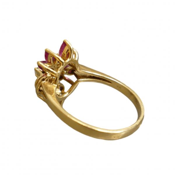 Žiedas su rubinais ir deimantais