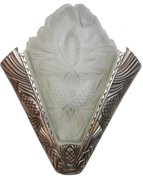 Art Deco stiliaus bronziniai sieniniai šviestuvai