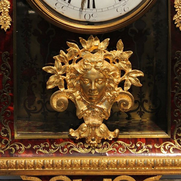 Antikvarinis Charles Boulles stiliaus laikrodis
