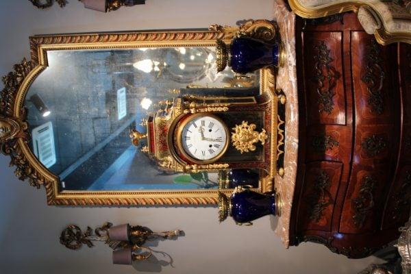 Antikvarinis paauksuotas Charles Boulles laikrodis