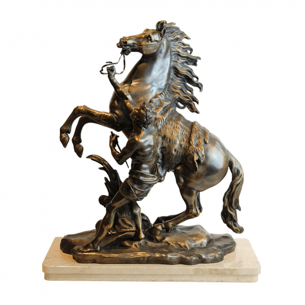 """Antikvarinė bronzinė G. Coustou skulptūra""""Marly žirgas"""""""