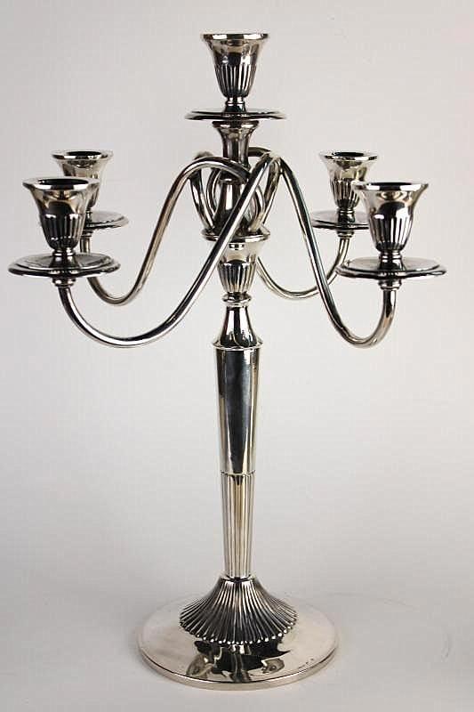 Art Deco stiliaus sidabrinės žvakidės