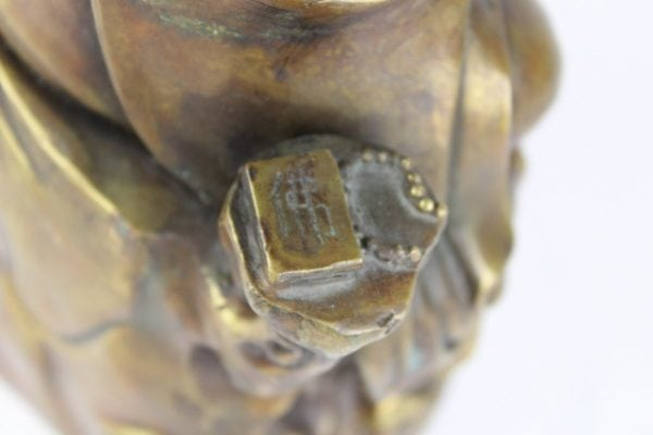 "Bronzinė skulptūra ""Buda"" 19 a. pab."