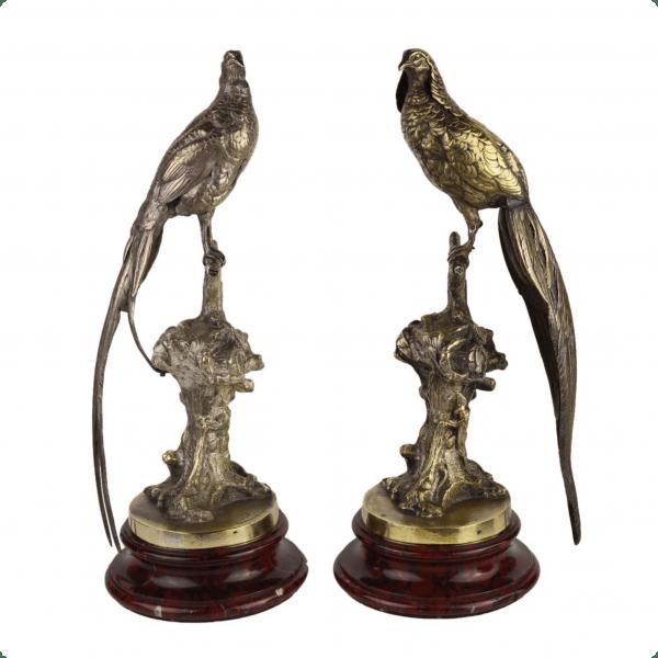 "Bronzinė Alfred Bogaerts skulptūra ""Fazanai"""